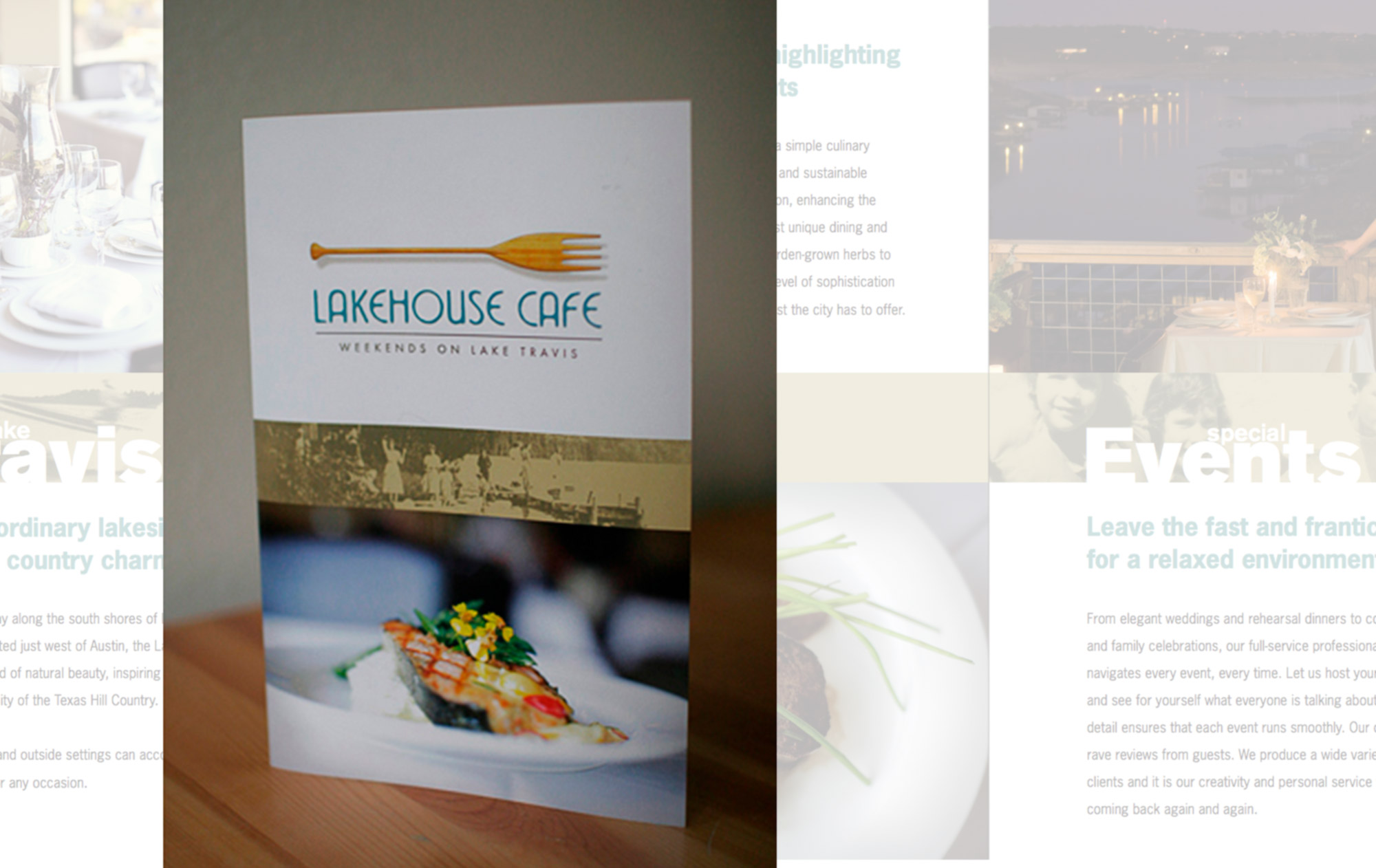 Lakehouse Cafe Trifold Brochure